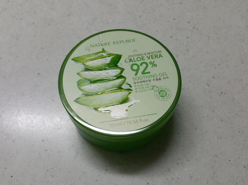 #1 Korean Skincare Product – Nature Republic Aloe Vera 92% SoothingGel