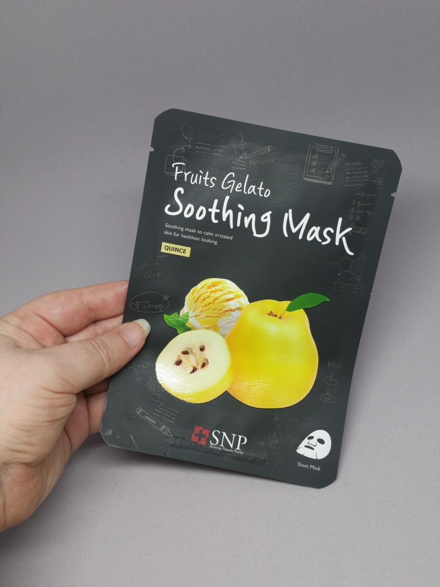 Masking – SNP Fruits Gelato Soothing MaskQuince