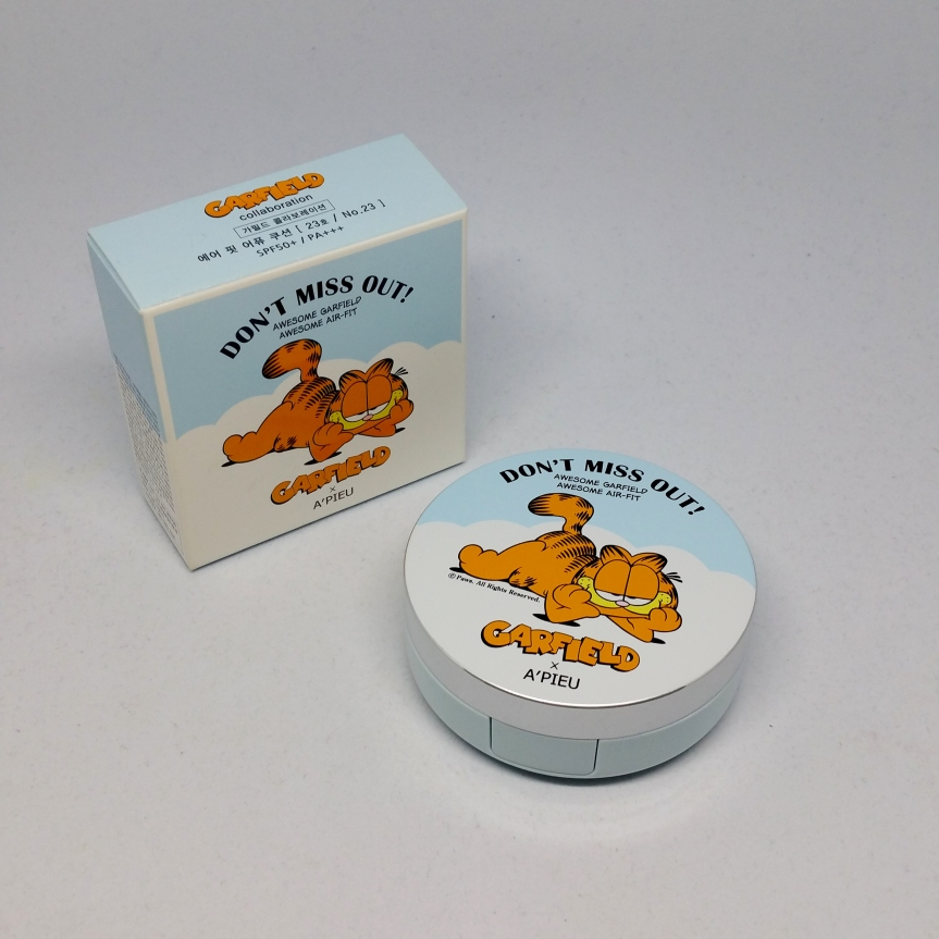 Review – A'PIEU Air Fit Cushion SPF50+/PA+++ (Garfield Edition)